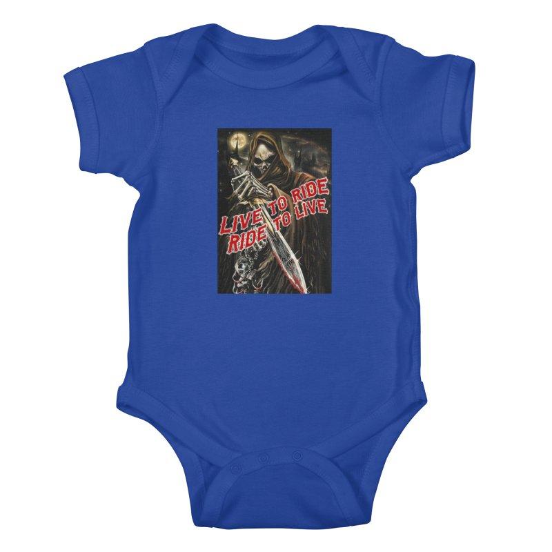 Reaper 2 Kids Baby Bodysuit by Vegans Choice Motorcycle Club