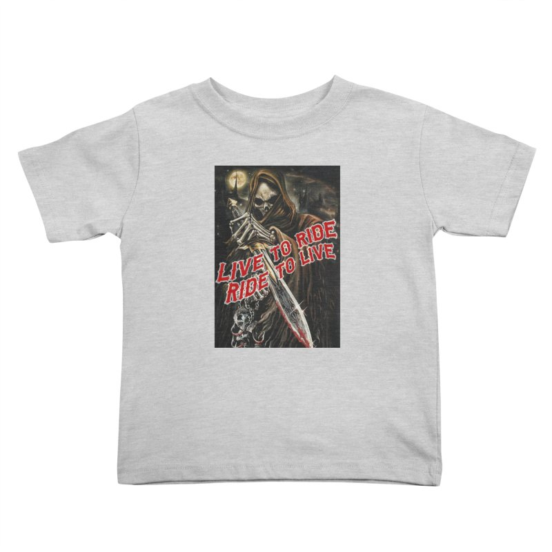 Reaper 2 Kids Toddler T-Shirt by Vegans Choice Motorcycle Club