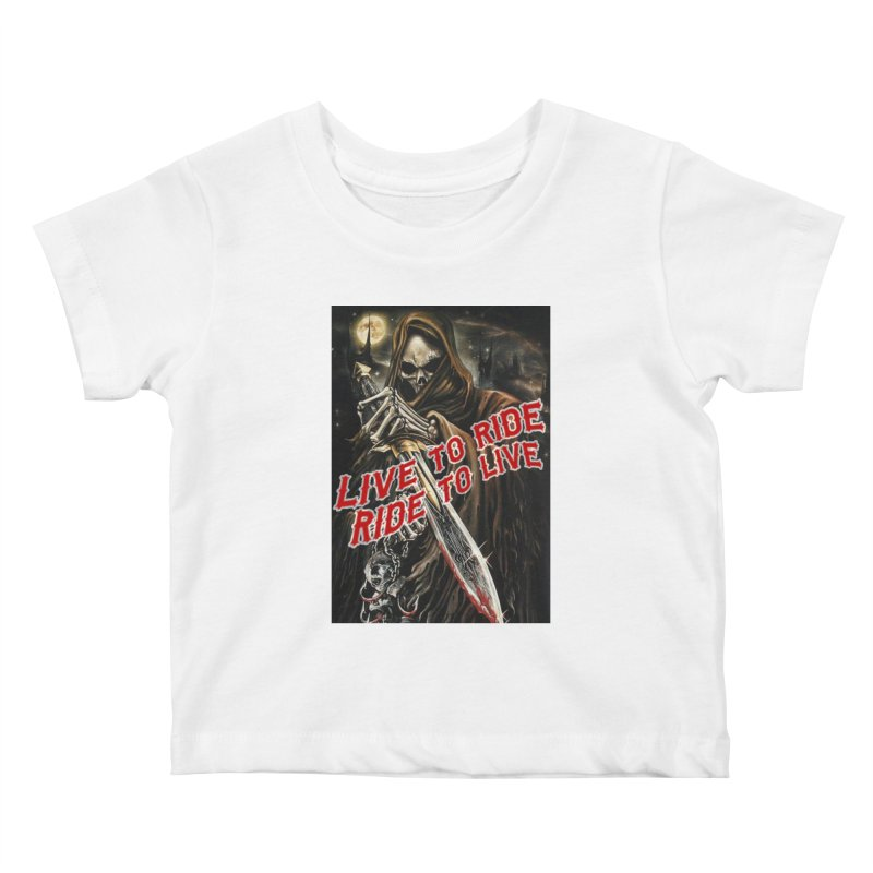 Reaper 2 Kids Baby T-Shirt by Vegans Choice Motorcycle Club