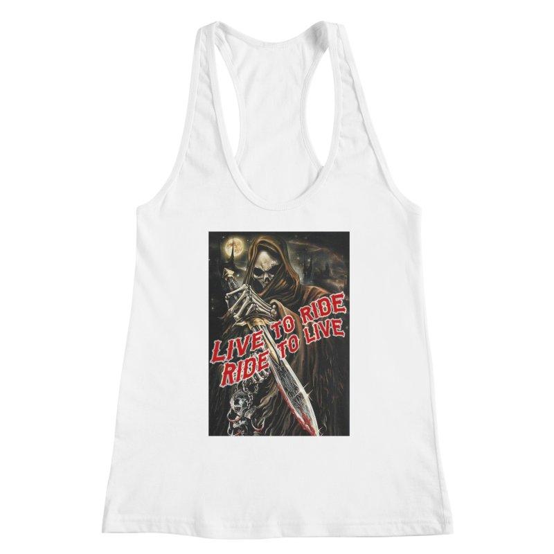 Reaper 2 Women's Tank by Vegans Choice Motorcycle Club