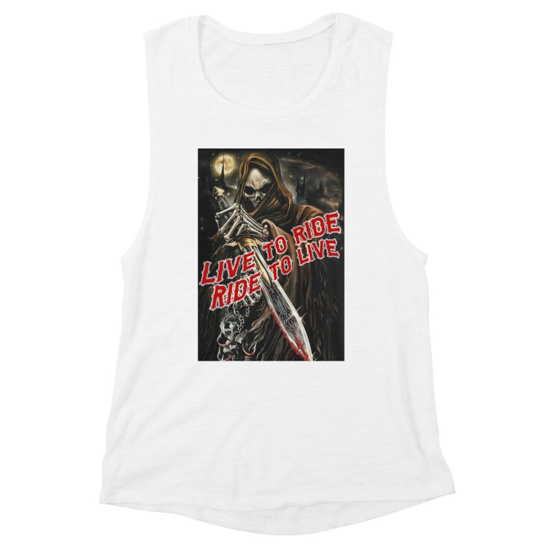 Reaper 2 Women's Muscle Tank by Vegans Choice Motorcycle Club