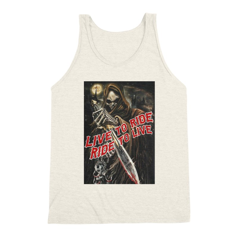 Reaper 2 Men's Triblend Tank by Vegans Choice Motorcycle Club