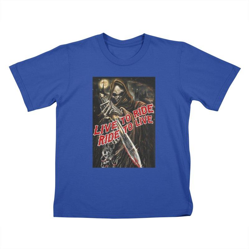 Reaper 2 Kids T-Shirt by Vegans Choice Motorcycle Club