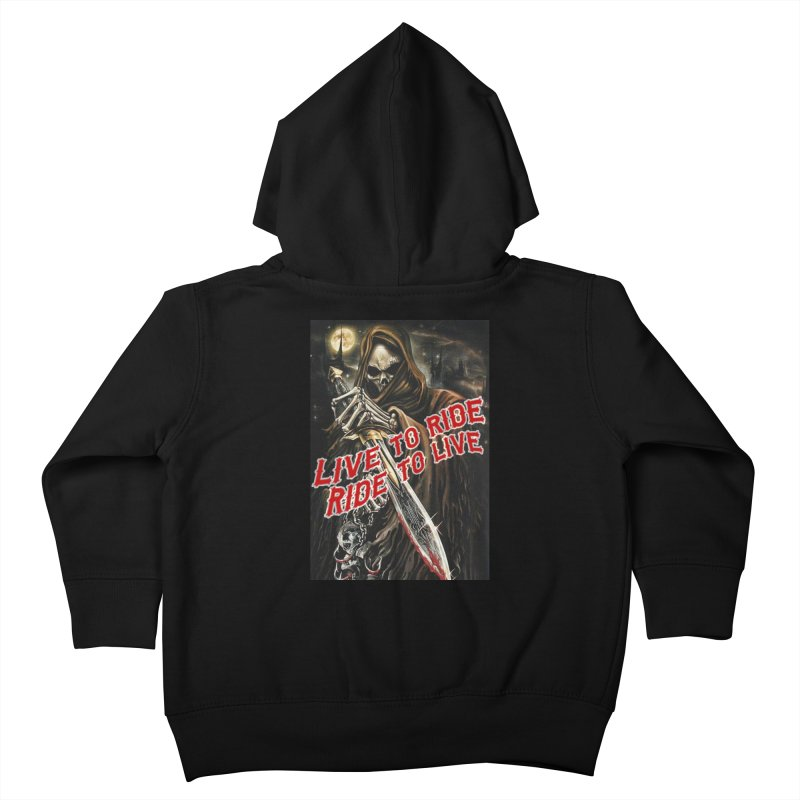 Reaper 2 Kids Toddler Zip-Up Hoody by Vegans Choice Motorcycle Club