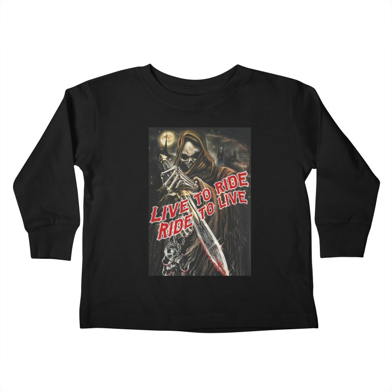 Reaper 2 Kids Toddler Longsleeve T-Shirt by Vegans Choice Motorcycle Club