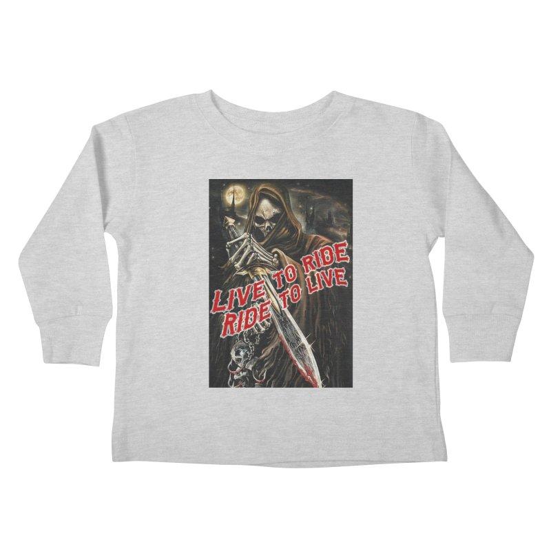 Reaper 2 Kids Toddler Longsleeve T-Shirt by Vegans Choice Motorcycle Club