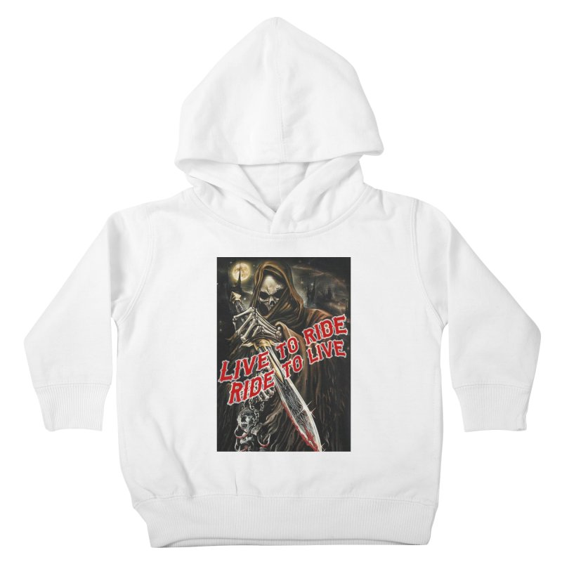Reaper 2 Kids Toddler Pullover Hoody by Vegans Choice Motorcycle Club