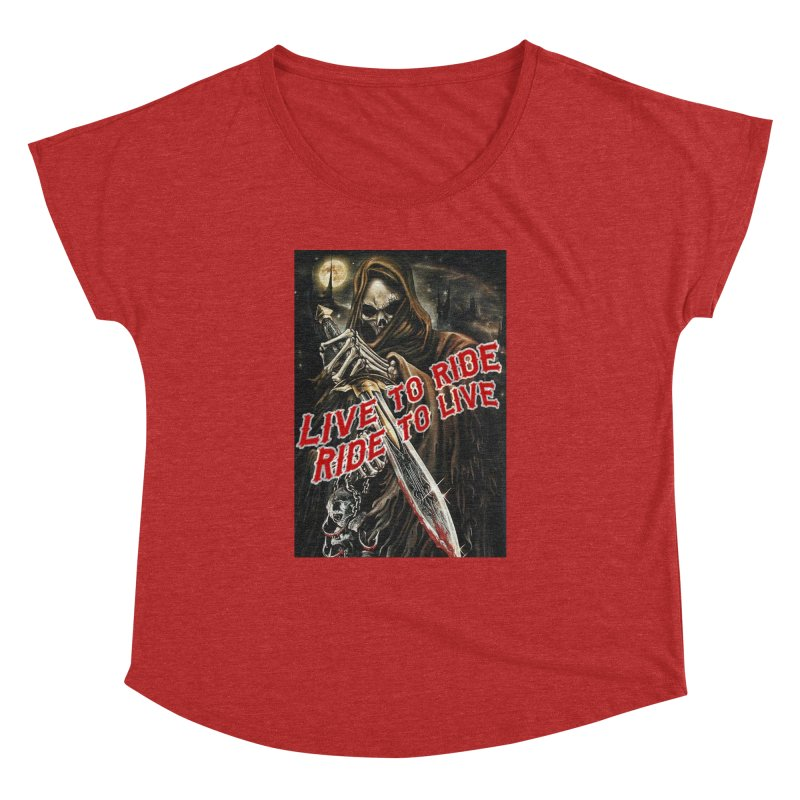 Reaper 2 Women's Dolman Scoop Neck by Vegans Choice Motorcycle Club
