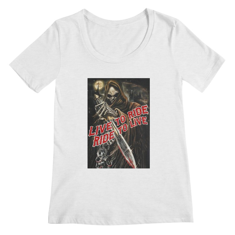 Reaper 2 Women's Regular Scoop Neck by Vegans Choice Motorcycle Club
