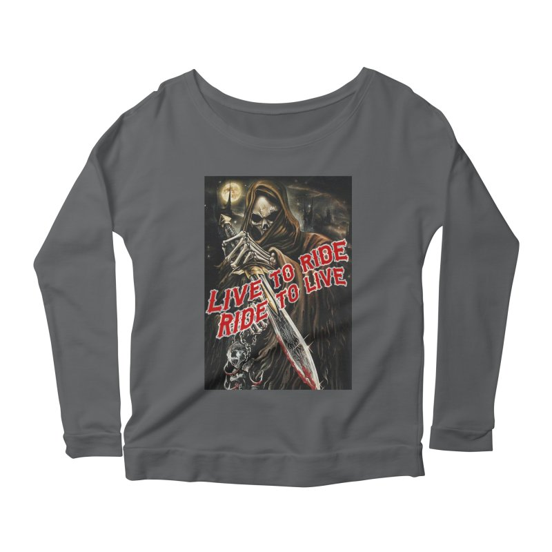 Reaper 2 Women's Longsleeve T-Shirt by Vegans Choice Motorcycle Club