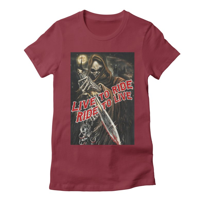 Reaper 2 Women's Fitted T-Shirt by Vegans Choice Motorcycle Club