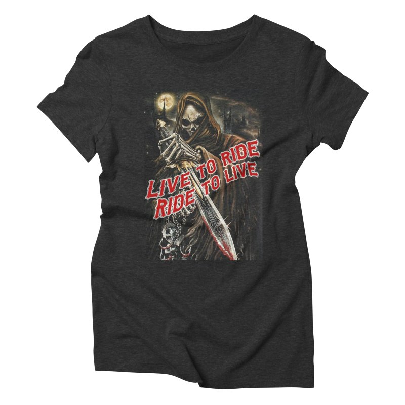 Reaper 2 Women's Triblend T-Shirt by Vegans Choice Motorcycle Club