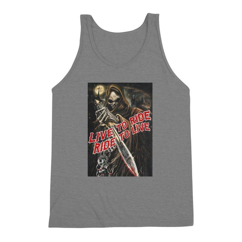 Reaper 2 Men's Triblend Tank by Vegans Choice Motorcycle Club