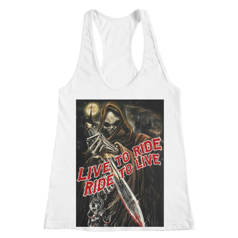 Reaper 2 Women's Racerback Tank by Vegans Choice Motorcycle Club