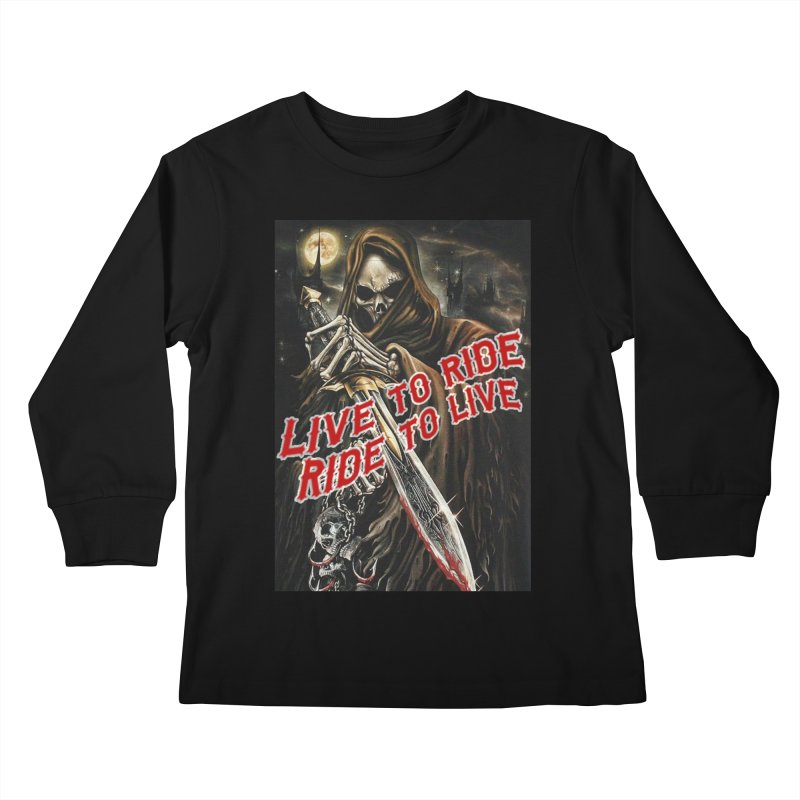 Reaper 2 Kids Longsleeve T-Shirt by Vegans Choice Motorcycle Club