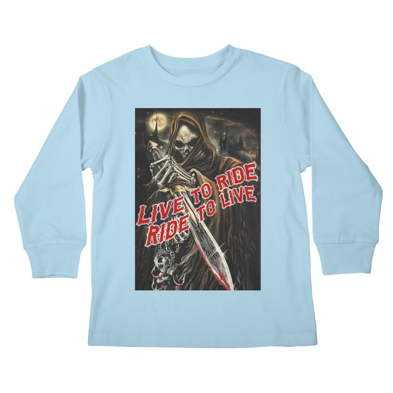 Reaper 2 Kids Longsleeve T-Shirt by Vegans Choice Motorcycle Club