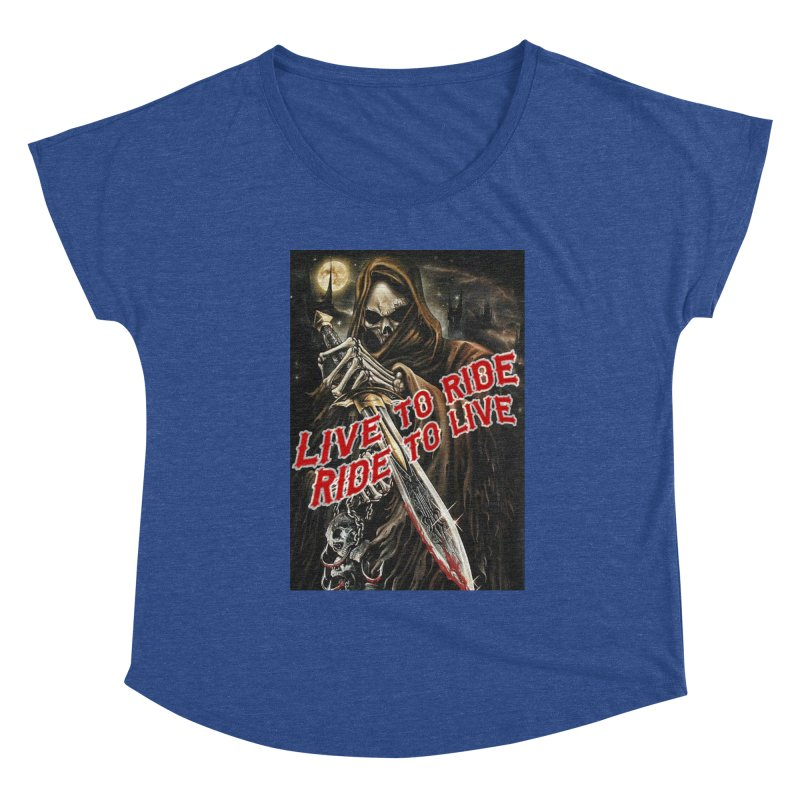 Reaper 2 Women's Scoop Neck by Vegans Choice Motorcycle Club
