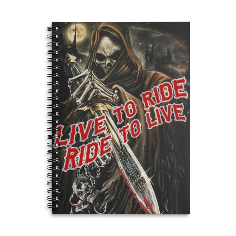 Reaper 2 Accessories Lined Spiral Notebook by Vegans Choice Motorcycle Club