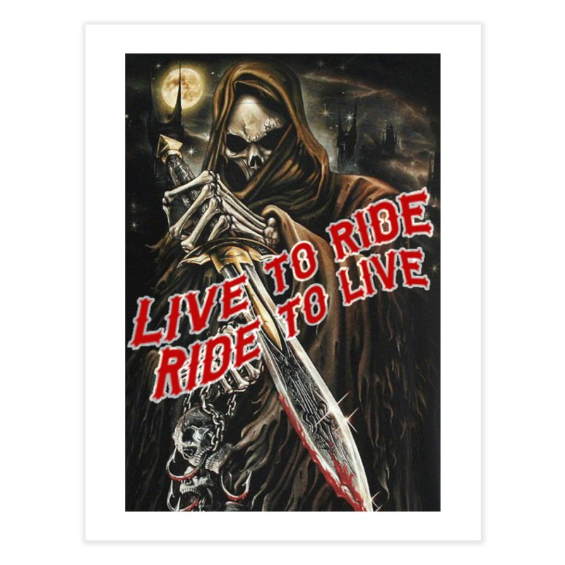 Reaper 2 Home Fine Art Print by Vegans Choice Motorcycle Club