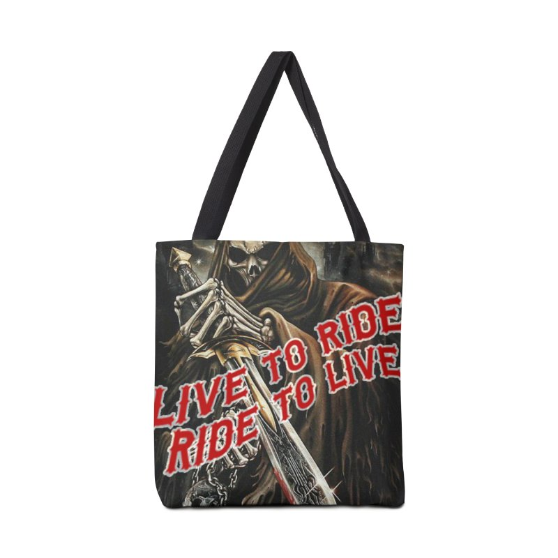 Reaper 2 Accessories Tote Bag Bag by Vegans Choice Motorcycle Club