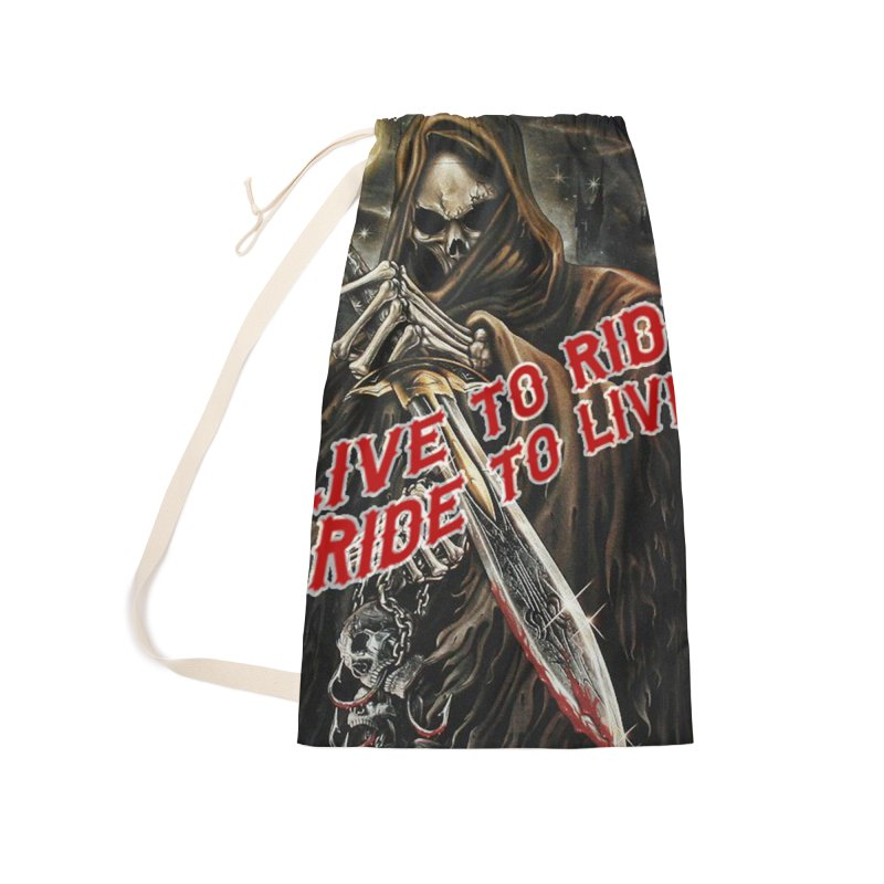Reaper 2 Accessories Laundry Bag Bag by Vegans Choice Motorcycle Club