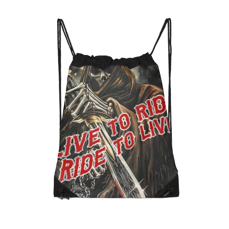 Reaper 2 Accessories Drawstring Bag Bag by Vegans Choice Motorcycle Club