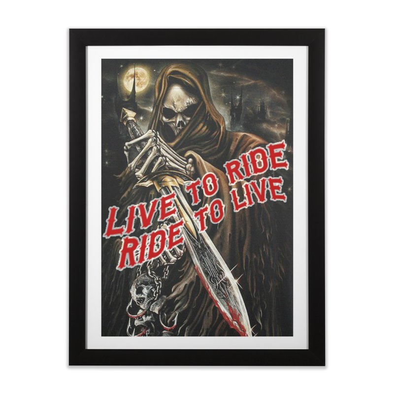 Reaper 2 Home Framed Fine Art Print by Vegans Choice Motorcycle Club