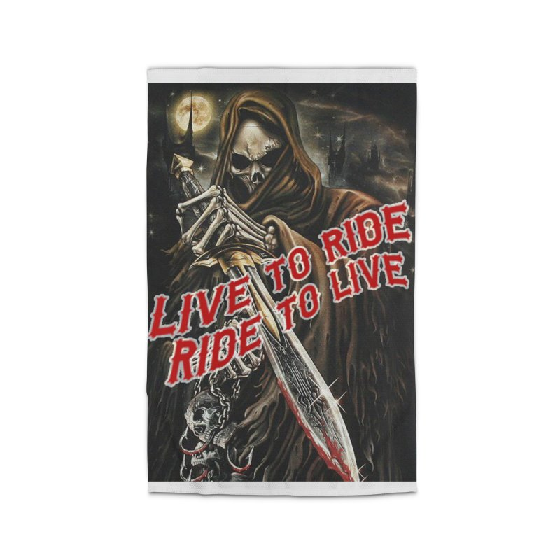 Reaper 2 Home Rug by Vegans Choice Motorcycle Club