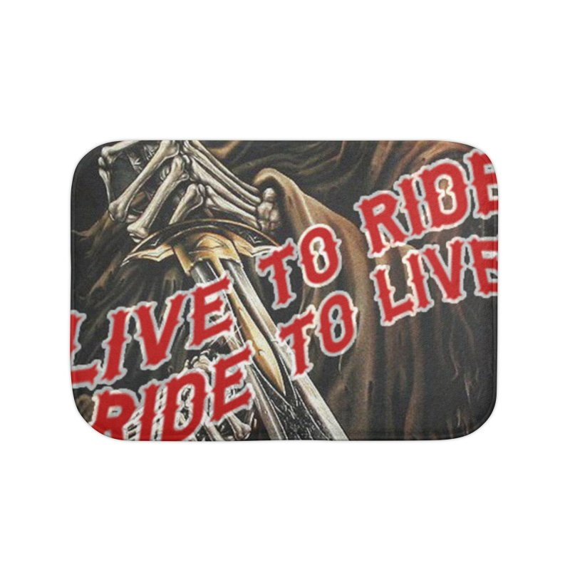 Reaper 2 Home Bath Mat by Vegans Choice Motorcycle Club