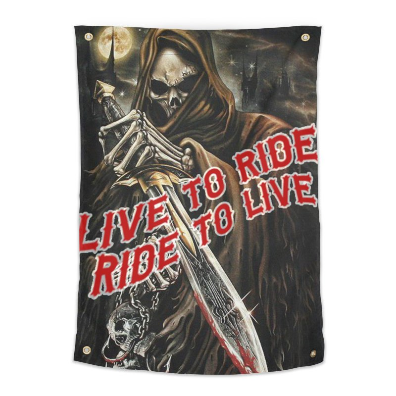 Reaper 2 Home Tapestry by Vegans Choice Motorcycle Club