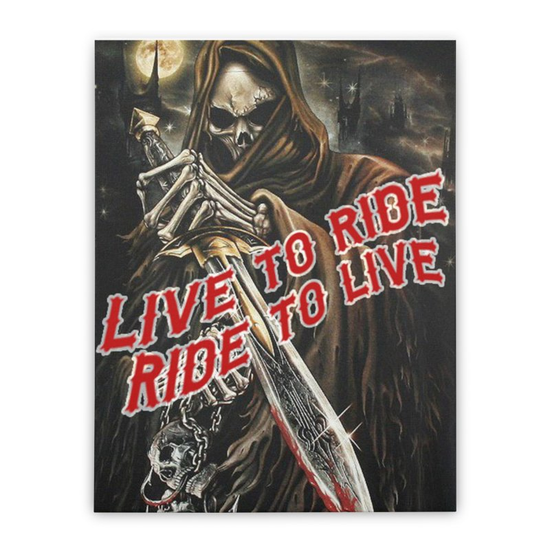 Reaper 2 Home Stretched Canvas by Vegans Choice Motorcycle Club