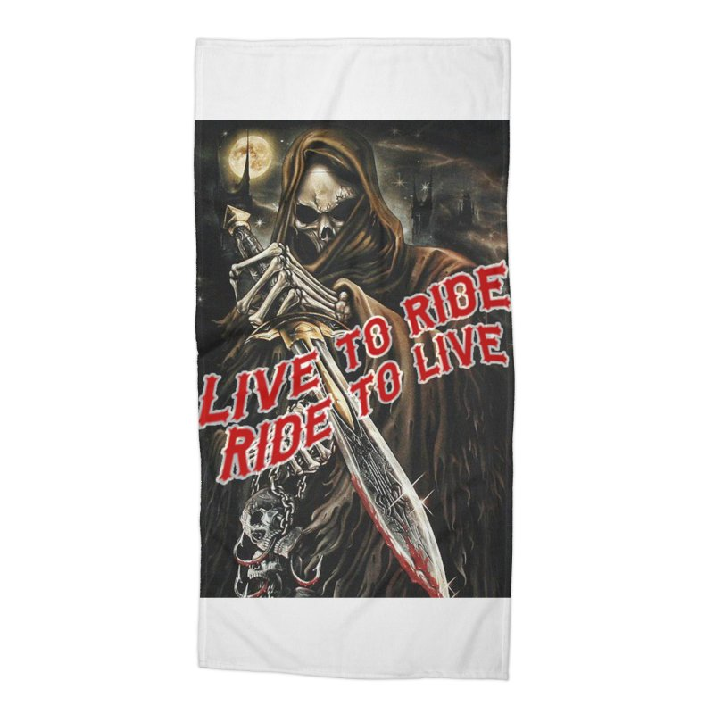Reaper 2 Accessories Beach Towel by Vegans Choice Motorcycle Club