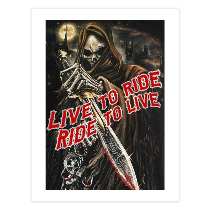 Reaper 2 Home Fine Art Print by Vegans Choice Motorcycle Club