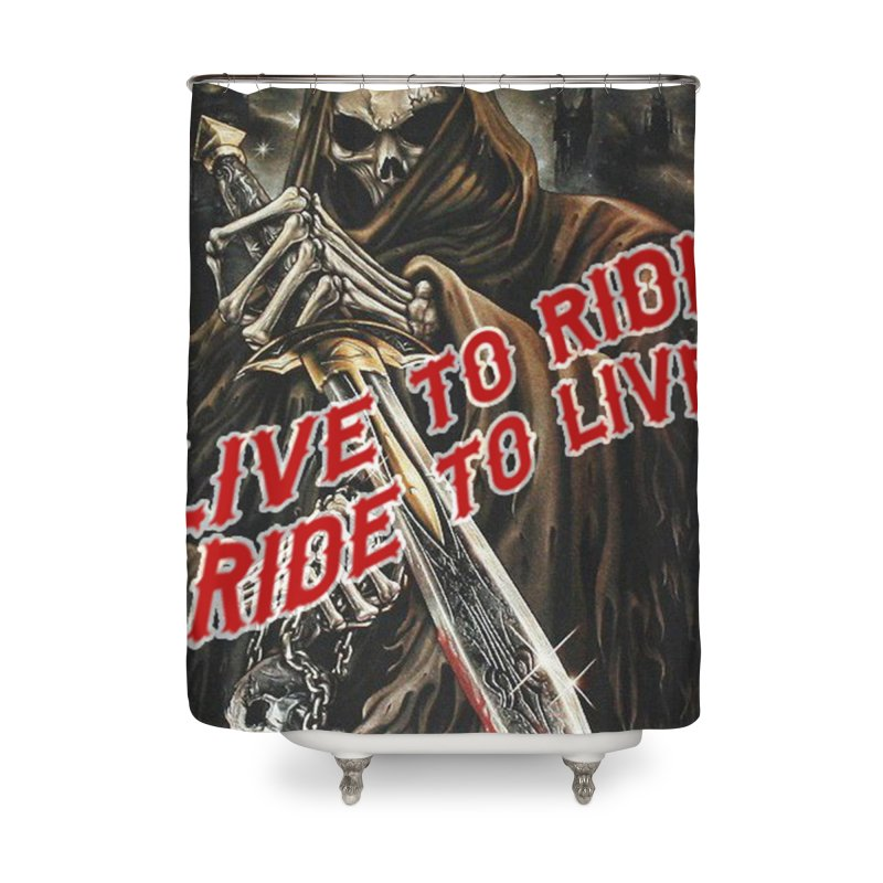 Reaper 2 Home Shower Curtain by Vegans Choice Motorcycle Club
