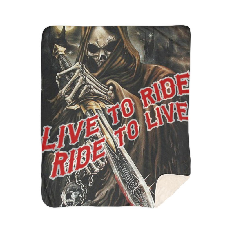 Reaper 2 Home Sherpa Blanket Blanket by Vegans Choice Motorcycle Club