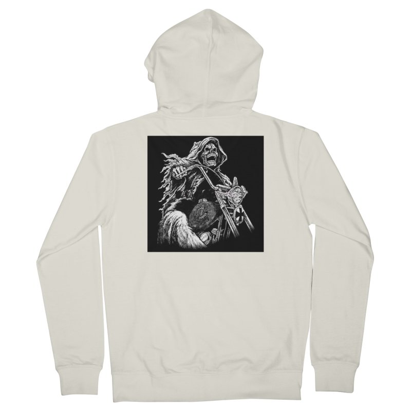 VCMC Skeleton Women's French Terry Zip-Up Hoody by Vegans Choice Motorcycle Club