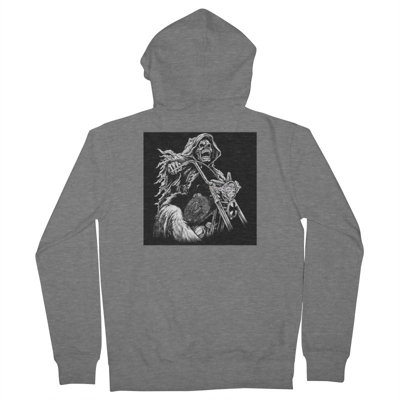 VCMC Skeleton Men's French Terry Zip-Up Hoody by Vegans Choice Motorcycle Club