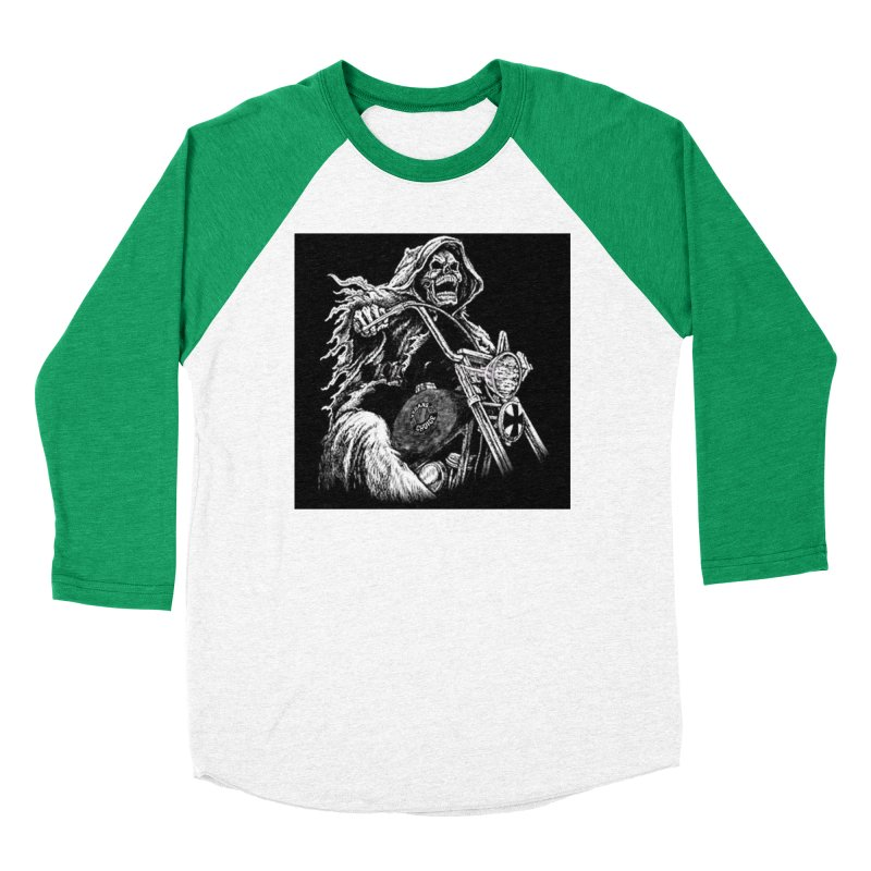VCMC Skeleton Women's Baseball Triblend Longsleeve T-Shirt by Vegans Choice Motorcycle Club