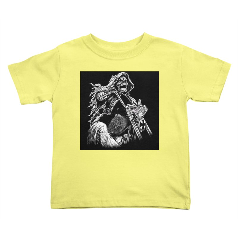 VCMC Skeleton Kids Toddler T-Shirt by Vegans Choice Motorcycle Club