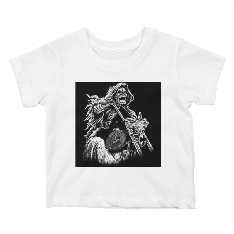 VCMC Skeleton Kids Baby T-Shirt by Vegans Choice Motorcycle Club