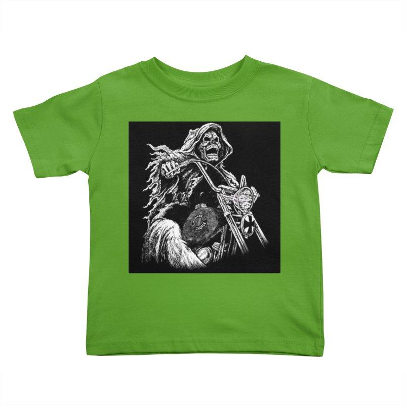 VCMC Skeleton Kids Toddler T-Shirt by Vegans Choice Motorcycle Club