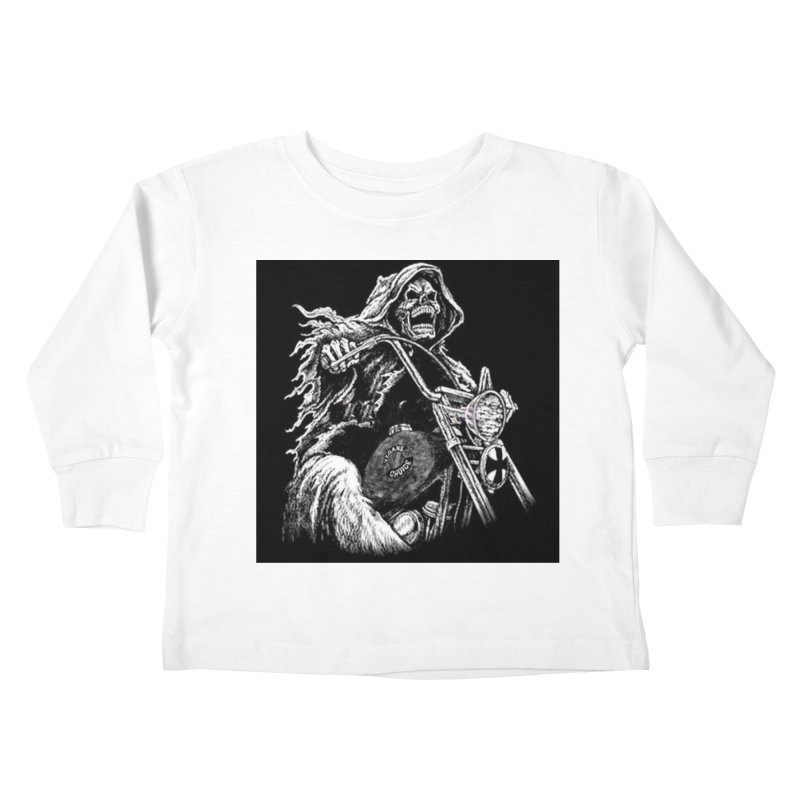 VCMC Skeleton Kids Toddler Longsleeve T-Shirt by Vegans Choice Motorcycle Club