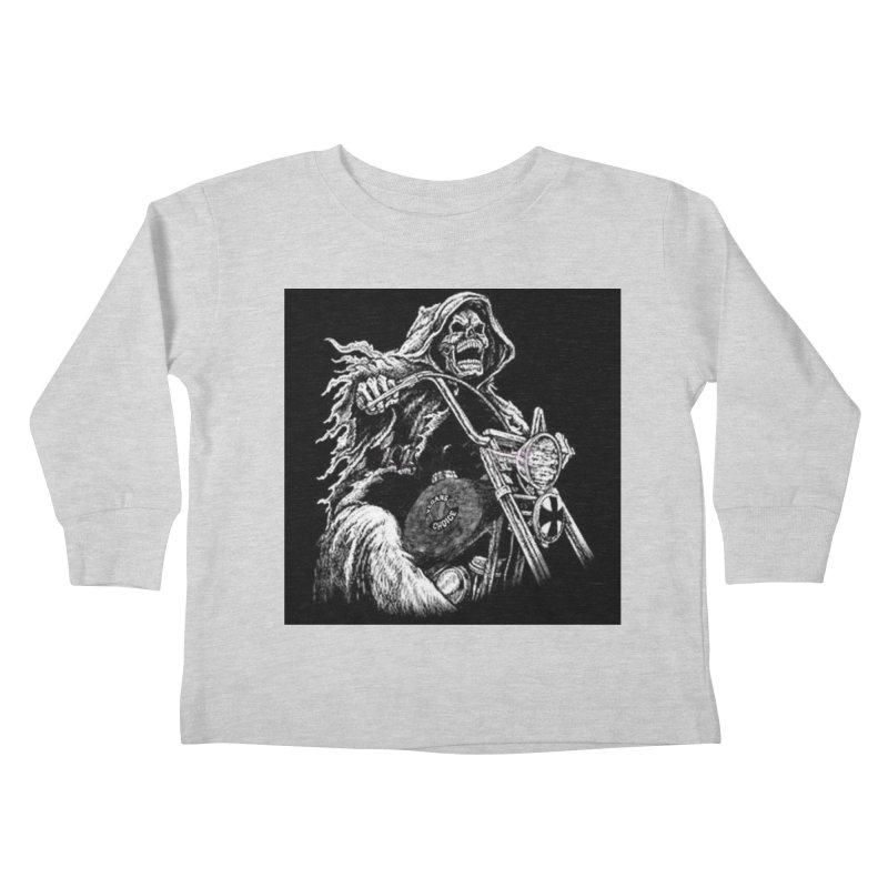 VCMC Skeleton Kids Toddler Longsleeve T-Shirt by Vegans Choice Motorcycle Club