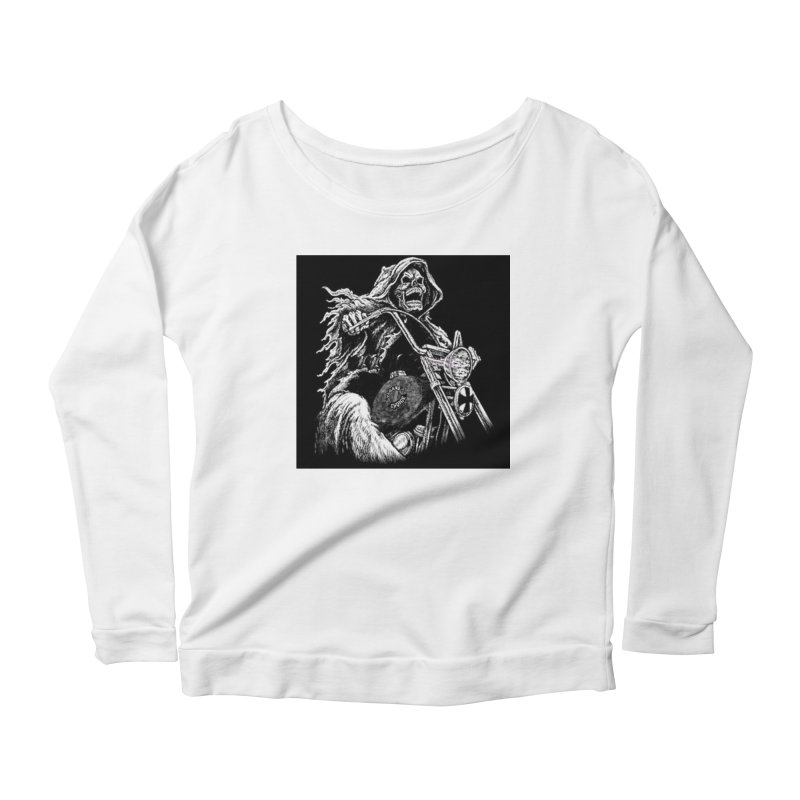 VCMC Skeleton Women's Scoop Neck Longsleeve T-Shirt by Vegans Choice Motorcycle Club