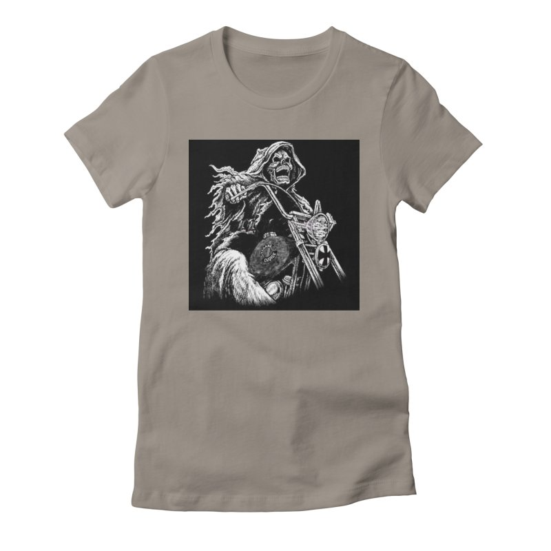 VCMC Skeleton Women's Fitted T-Shirt by Vegans Choice Motorcycle Club