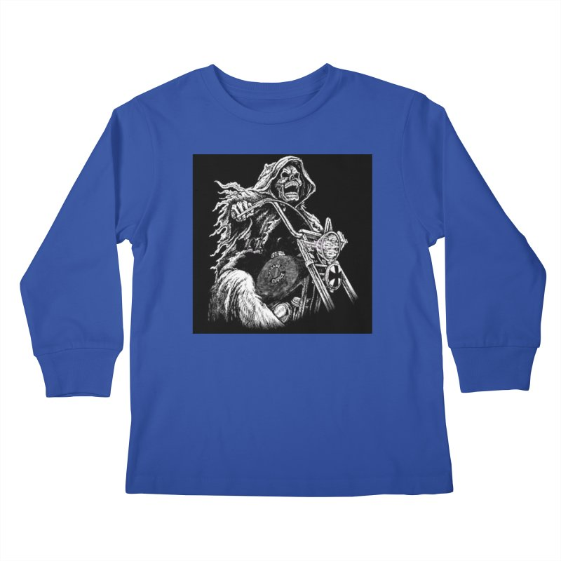 VCMC Skeleton Kids Longsleeve T-Shirt by Vegans Choice Motorcycle Club
