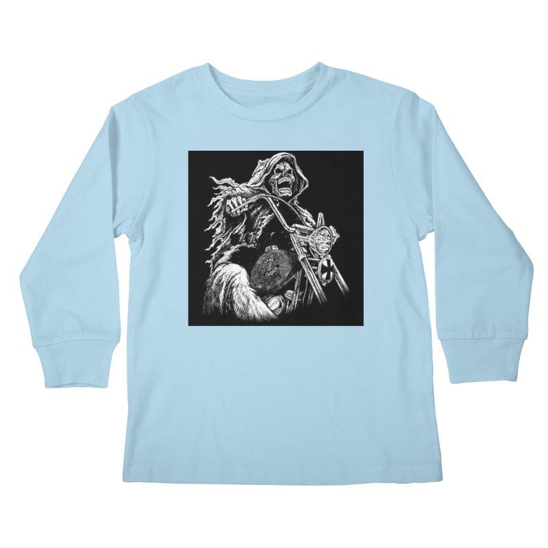 VCMC Skeleton Kids Longsleeve T-Shirt by Vegans Choice Motorcycle Club