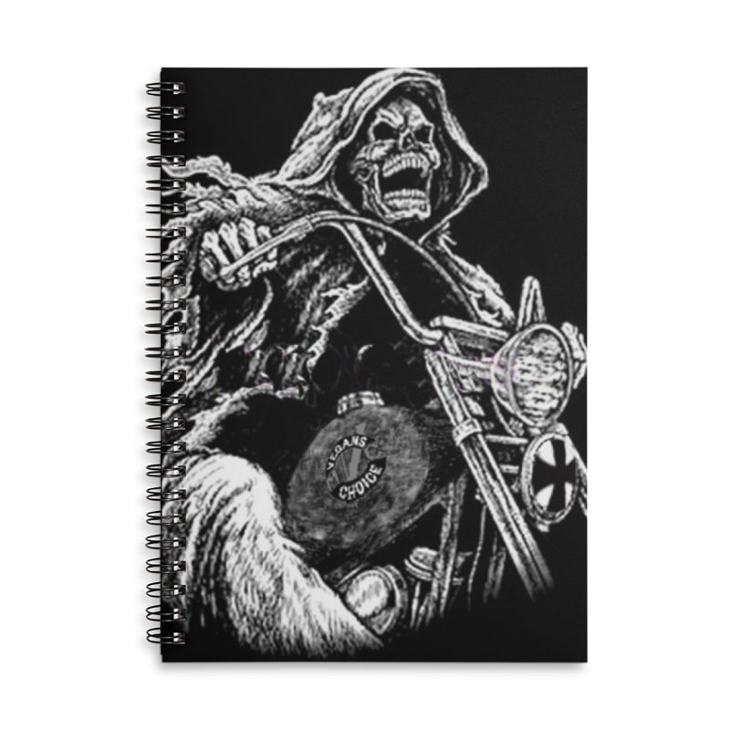 VCMC Skeleton Accessories Lined Spiral Notebook by Vegans Choice Motorcycle Club