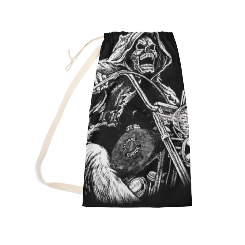 VCMC Skeleton Accessories Laundry Bag Bag by Vegans Choice Motorcycle Club