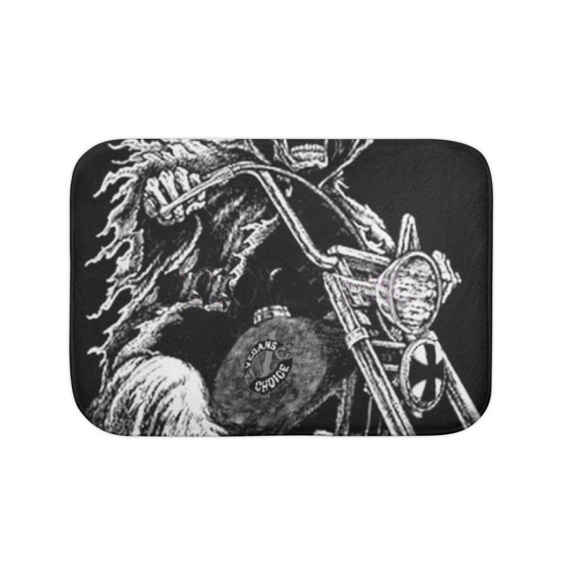 VCMC Skeleton Home Bath Mat by Vegans Choice Motorcycle Club